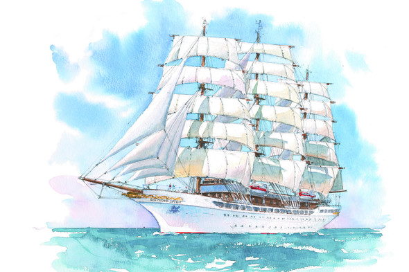 Sea Cloud Spirit - Artists' impression