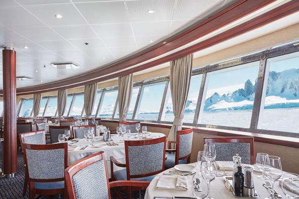 Silver Explorer - Restaurant in Antarctica