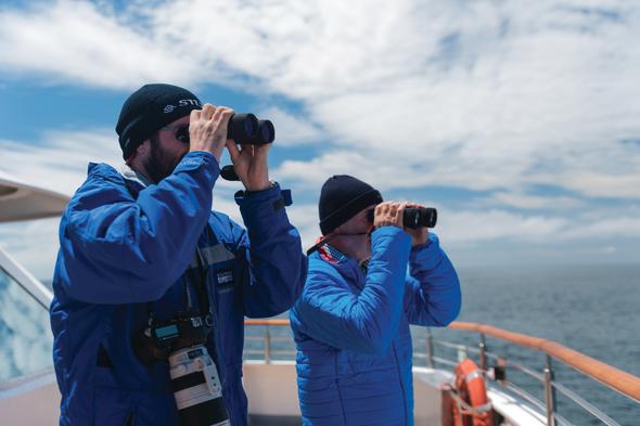 Silversea guests on deck in Antarctica