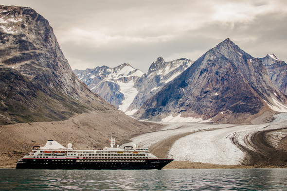 Silver Cloud in Svalbard, Arctic Norway