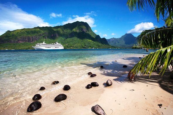 Crystal Serenity in Moorea, French Polynesia