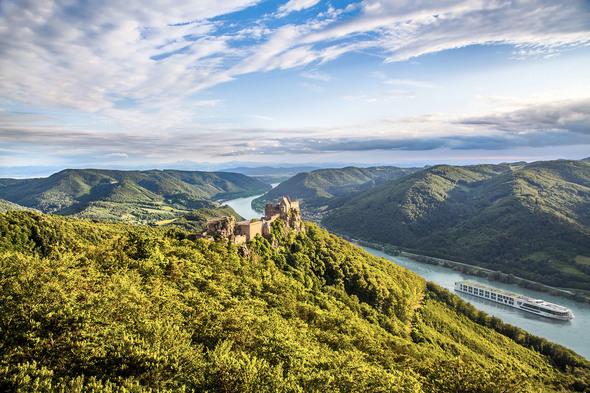 Scenic Jasper on the Danube in the Wachau Valley, Austria