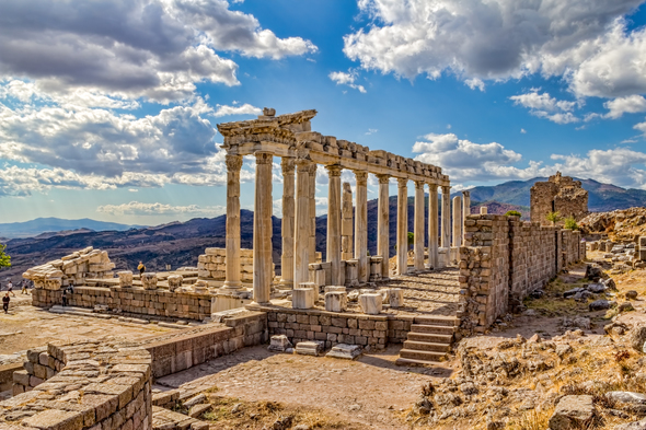Temple of Trajan in Pergamum, Turkey