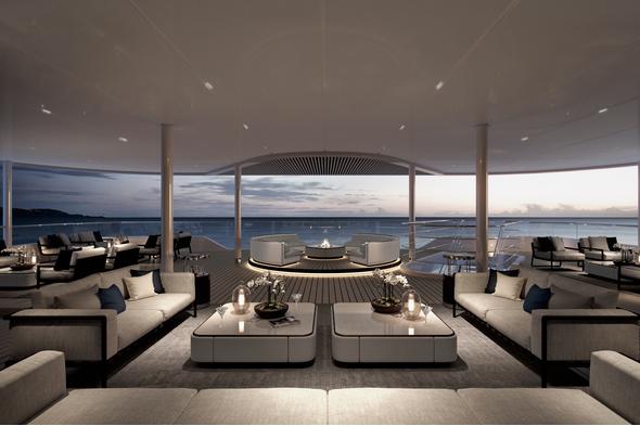 Silver Origina - Explorer Lounge terrace and fire pit