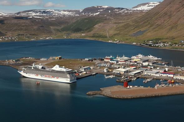 Oceania Cruises in Isafjordur, Iceland