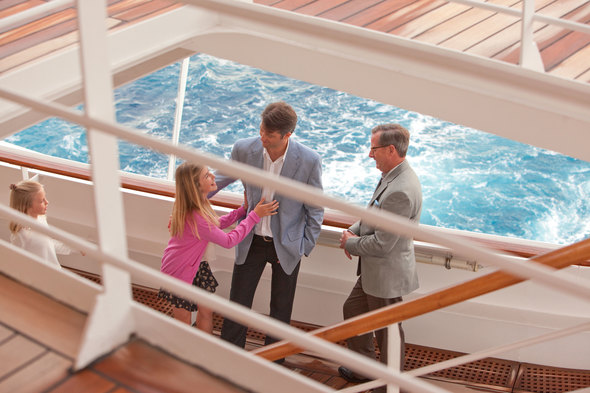 Family group on board Crystal Cruises