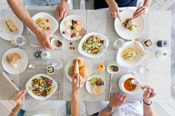 Lunch on board Crystal Esprit