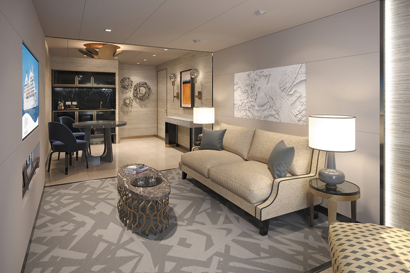 Regent Seven Seas Splendor - Suite sitting area