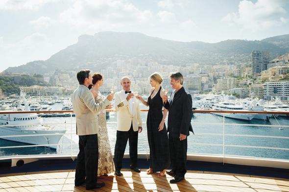 Formal dress on board a Silversea luxury cruise