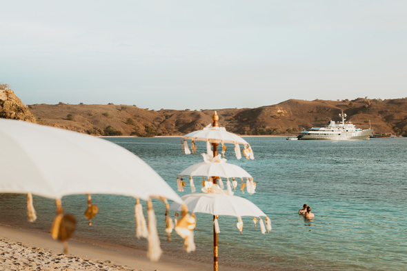 Aqua Blu - Sundowners on the Komodo Islands, Indonesia