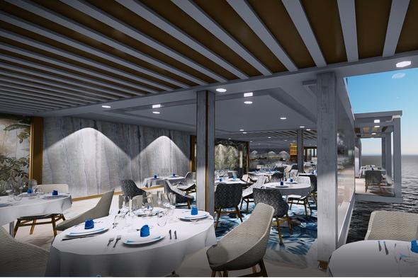 Regent Seven Seas Splendor - La Veranda alcove seating