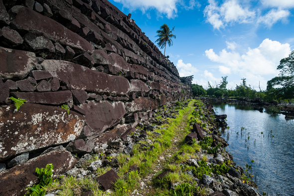 Nan Madol ruined city, Pohnpei, Micronesia