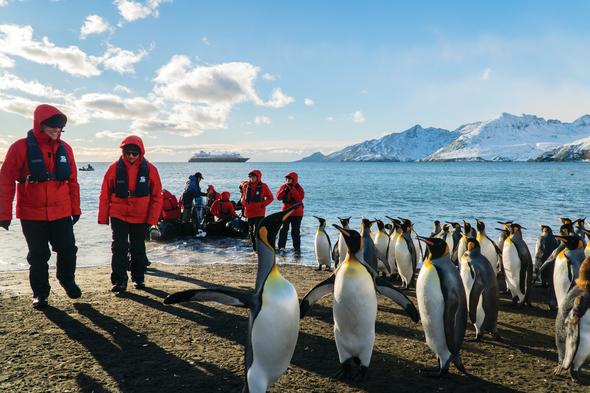 Silversea Expeditions zodiac landing in Antarctica