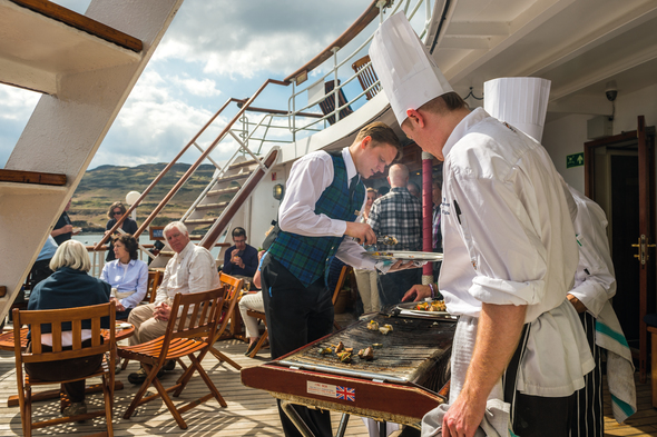 Barbecue on Hebridean Princess