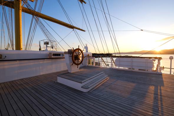 Tradewind Voyages - Golden Horizon - Compass Deck
