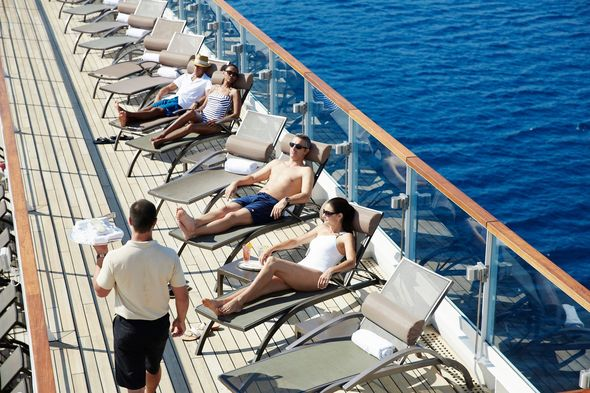 Deck service on Seabourn