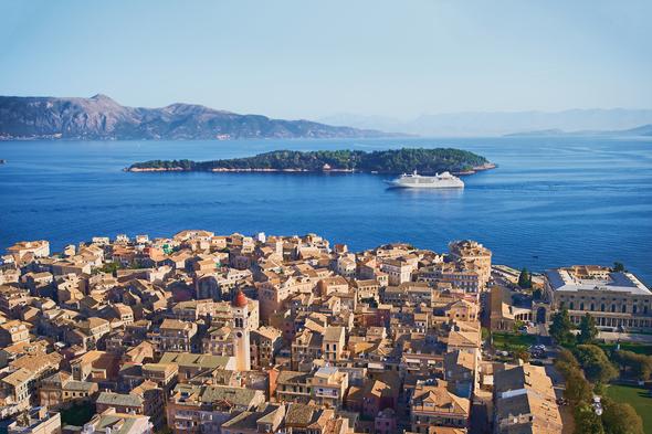 Silversea Mediterranean cruise in Corfu