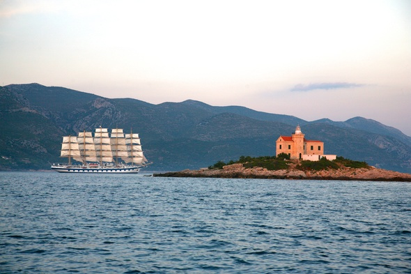 Royal Clipper in Korcula, Croatia