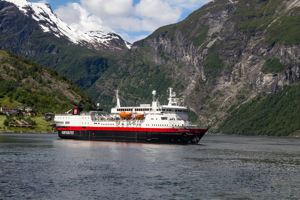 Hurtigruten - MS Vesteralen cruising the Norwegian Fjords