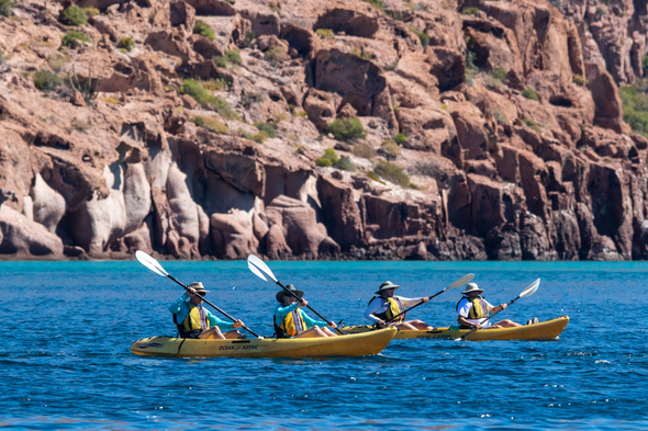 Kayaking in Baja, Mexico