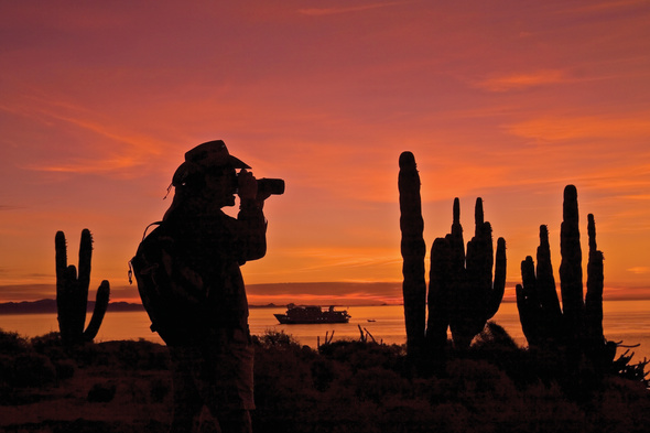 Lindblad Expeditions - Photographing the sunset in the Sea of Cortez