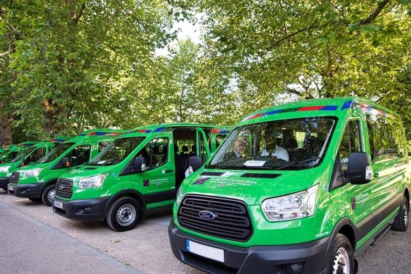 Lord's Taverners minibuses