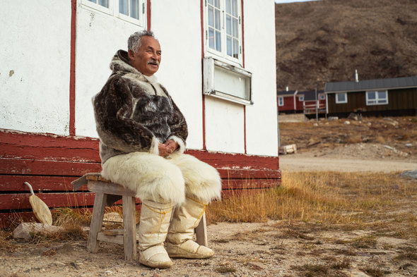 Local man in Qaanaq, Greenland