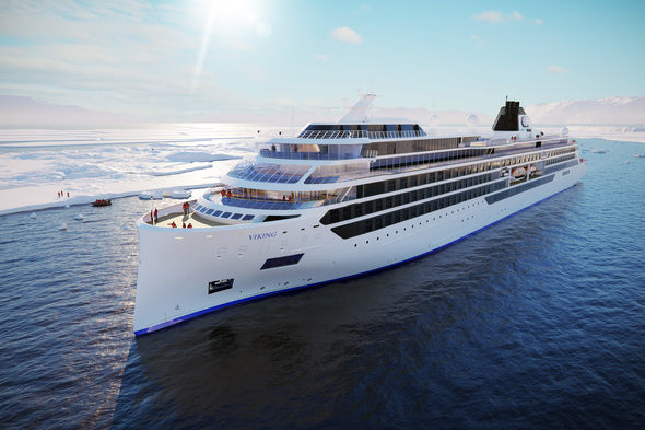 Rendering of Viking's new expedition ships
