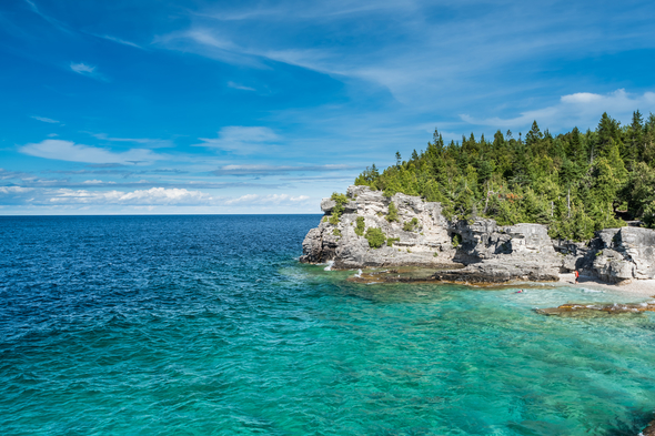Shores of Lake Huron near Tobermory, Ontario