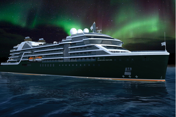 Seabourn Venture and the Northern Lights