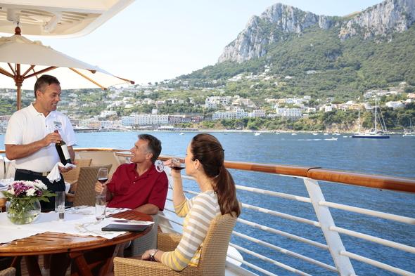 Casual lunch on board SeaDream Yacht Club