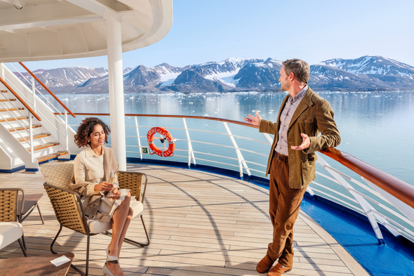 Casual dress on board a Silversea Expeditions cruise
