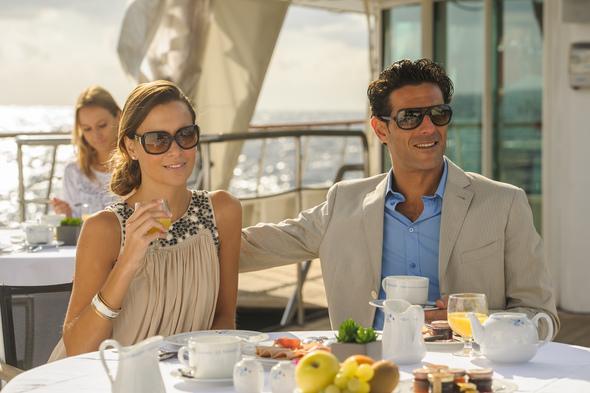 Elegant casual dress on board a Ponant cruise