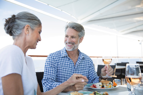 Dining at La Veranda restaurant on board Regent Seven Seas Voyager