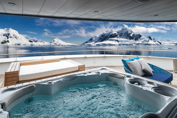 Scenic Eclipse - Owners Penthouse deck in Antarctica