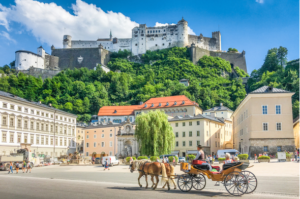 Horse and carriage in Salzburg, Austria