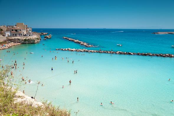 Beach in Otranto, Italy