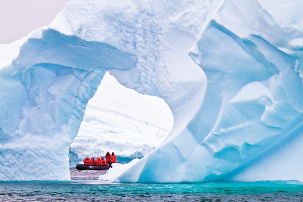 Lindblad Expeditions - Zodiac in Antarctica
