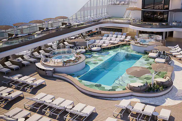 Oceania Vista - Pool deck