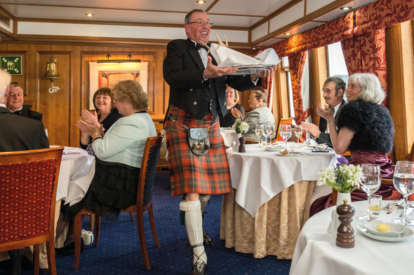 Gala dinner on Hebridean Island Cruises