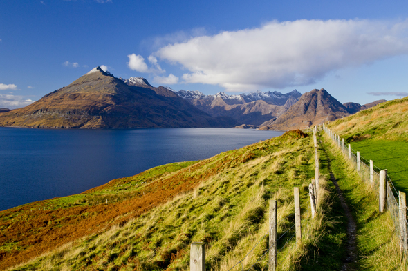 Loch Scavaig and the Cuilin Mountains, Isle of Skye