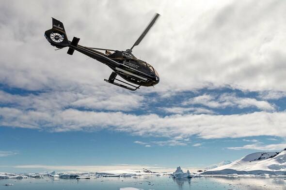 Scenic Eclipse - Helicopter flight over Antarctica