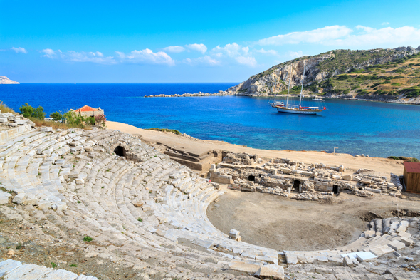 Amphitheatre in Knidos, Turkey