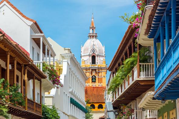 Balconies in Cartagena, Colombia