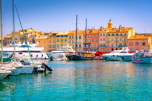 Saint-Tropez harbour, France