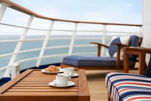 Oceania O Class - Owners Suite veranda