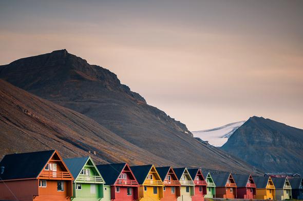 Houses in Longyearbyen, Svalbard