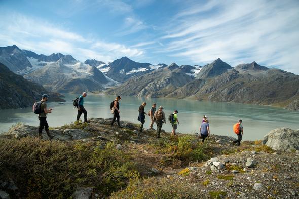 Hiking in Glacier Bay, Alaska