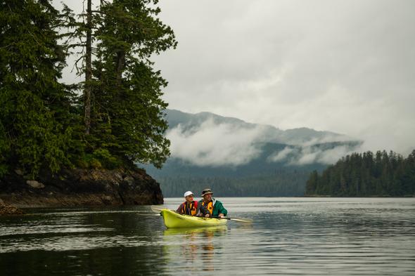 Kayaking around the Blashke Islands, Alaska