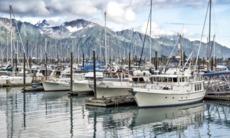 Boats in Seward harbour, Alaska
